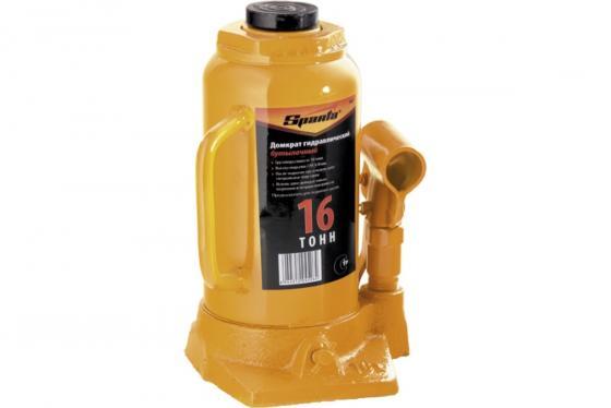 Домкрат SPARTA 50327 гидравлический бутылочный 16 т h подъема 220-420мм домкрат tor г п 3 0 т гидравлический