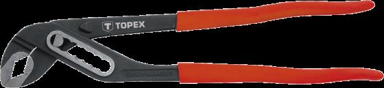 Клещи TOPEX 34D513 трубные 300мм диапазон 0-40мм ключ трубный переставной topex 34d513