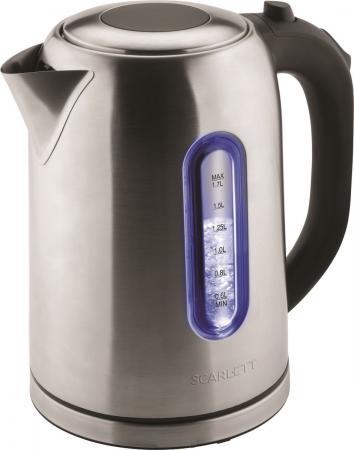 Чайник электрический Scarlett SC-EK21S50 1800 Вт серебристый 1.7 л металл цена и фото