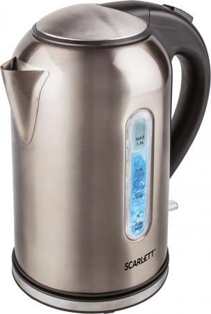 Чайник электрический Scarlett SC-EK21S64 1.8л. 2200Вт серый (корпус: металл) чайник scarlett sc ek21s32 2200вт 1 7л металл