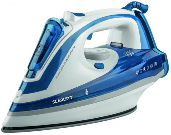 Утюг Scarlett SC-SI30K29 2200Вт белый/синий вентилятор scarlett sc 1370 белый