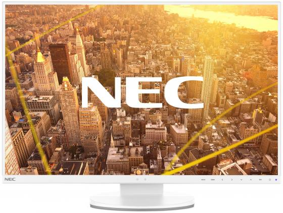 "Монитор 27"" NEC EA271F-WH белый IPS 1920x1080 250 cd/m^2 6 ms DVI HDMI DisplayPort VGA Аудио USB монитор 24 nec pa242w sv2 серебристый ah ips 1920x1200 340 cd m^2 8 ms dvi hdmi displayport vga usb"