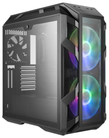 Cooler Master MasterCase H500M, USB3.0x4, USB3.1(Type-C)x1, 2x200RGBFan, 1x140Fan, IronGrey, Full Tower, w/o PSU cooler master mastercase mc500m usb3 0x3 usb3 1 type c x1 3x140fan black fullatx w o psu
