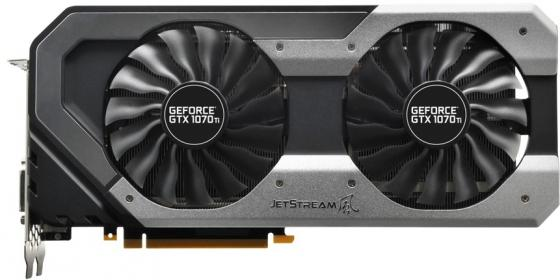 Видеокарта Palit GeForce GTX 1070 Ti GeForce GTX 1070 Ti Super JetStream PCI-E 8192Mb GDDR5 256 Bit Retail видеокарта palit geforce gtx 1070 super jetstream 1632mhz pci e 3 0 8192mb 8000mhz 256 bit hdmi ne51070s15p2 1041j
