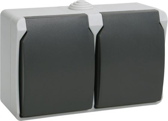 Розетка ИЭК Форс РСб22-3-ФСр 2м с/з открытой установки недорого