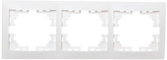 Рамка LEZARD 701-0200-148 серия Мира 3-ая горизонтальная белый