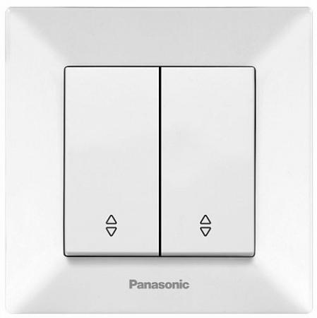 Выключатель PANASONIC WMTC0009-2WH-RES Arkedia 2кл белый