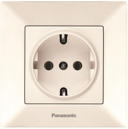 Розетка PANASONIC WMTC0202-2BG-RES Arkedia с/з крем