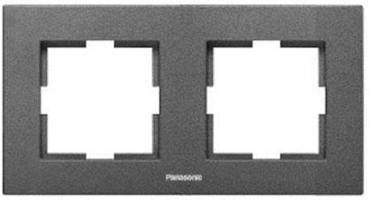 Рамка PANASONIC WKTF0802-2DG-RES Karre Plus 2м горизонтальная темно-серый