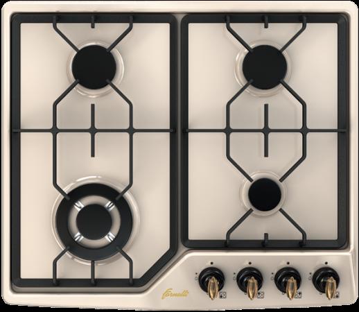 Варочная панель газовая Fornelli PGA 60 GRAZIA IVORY бежевый бордюр grazia vintage bordura ivory 3 5x20