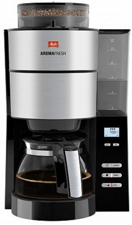Кофеварка капельная Melitta Aroma Fresh with Grinder 1000Вт черный цена и фото