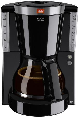 Кофеварка капельная Melitta Look IV Timer 1000Вт черный кофеварка капельная melitta optima timer 850вт черный