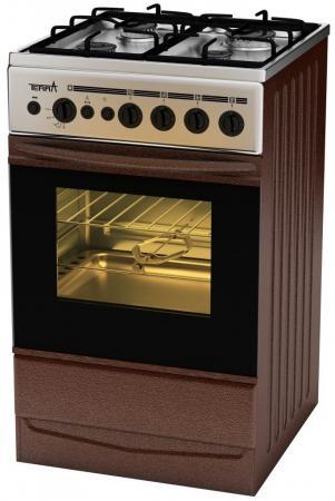 Комбинированная плита TERRA GE 5404 Br коричневый цены онлайн