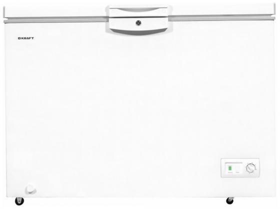 Морозильный ларь Kraft HSM 425 белый серебристый