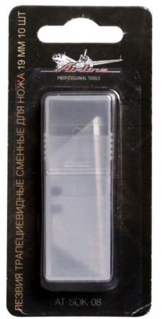Лезвие AIRLINE AT-SOK-08 лезвия трапециевидные сменные для ножа 19мм 10шт цена