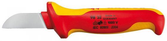 Нож кабельный KNIPEX 9852 1000V 180мм электротехнический. инстументальная сталь,закаленная в масле. бокорезы knipex kn 1426160
