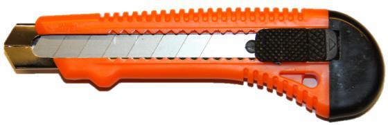 купить Нож STURM! 1076-09-02 18мм выдвижное лезвие механич. фиксатор металл. направляющая по цене 60 рублей