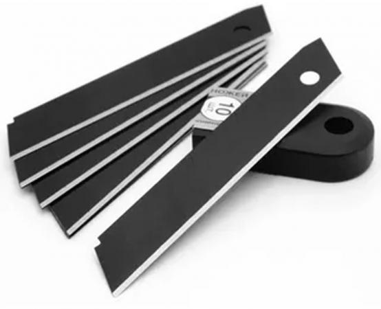 купить Лезвие для ножа VIRA 831500 сегментные с воронением 18мм 10шт по цене 125 рублей