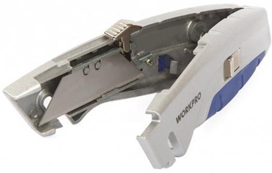 Нож WORKPRO W013010 строительный выдвижной 165мм. с функцией быстрой замены лезвий нож workpro w011010 строительный складной 150мм нержавеющая сталь с механизмом быстрого замены