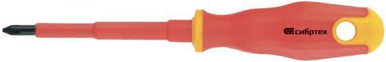 Отвертка СИБРТЕХ 12929 диэлектрическая ph2х100мм crv до 1000в двухкомпонентная рукоятка