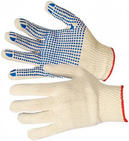 Перчатки NEWTON per4-10 х/б 10/5 белые с ПВХ точка комплект 10 штук