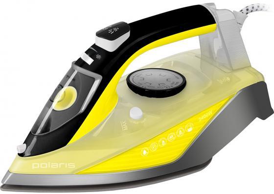Утюг Polaris PIR 2460АK 2400Вт жёлтый серый чёрный утюг bosch tda1024140 2400вт жёлтый белый