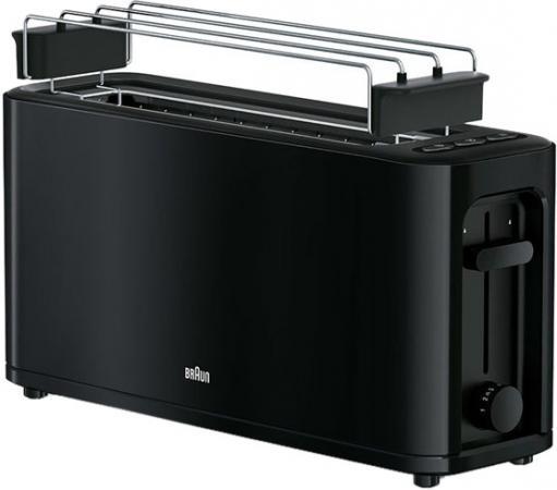 Тостер Braun HT3110 1000Вт черный braun ht500 multitoast white тостер