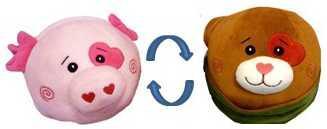 Мягкая игрушка ИГРАЕМ ВМЕСТЕ Вывернушка Щенок - Свинка 16см в пак. в кор.24шт мягкая игрушка играем вместе вывернушка щенок свинка 16см в пак в кор 24шт