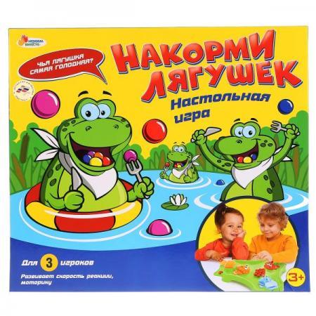 Настольная игра для вечеринки ИГРАЕМ ВМЕСТЕ Накорми лягушек