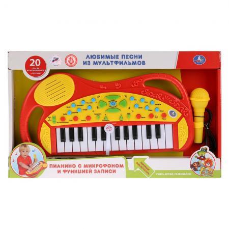 Обучающее пианино со звуком, 20 любимых песен с микрофоном., руссифиц. ТМ УМКА в кор.2*12шт книга пианино умка союзмультфильм 10 песен голосами любимых героев 9785919410201