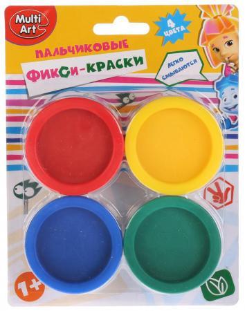 Пальчиковые краски Multi Art Фиксики 4 цвета CM2684-FIX
