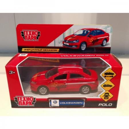 Автомобиль Технопарк VW POLO СПОРТ красный POLO-S