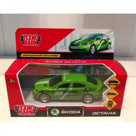 Инерционная машинка Технопарк SKODA OCTAVIA СПОРТ зеленый OCTAVIA-S технопарк машинка инерционная lada 111 спорт