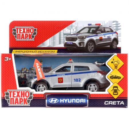 Автомобиль Технопарк HYUNDAI CRETA ПОЛИЦИЯ серебристый CRETA-P-SL игрушка технопарк бронемашина fy6158 sl