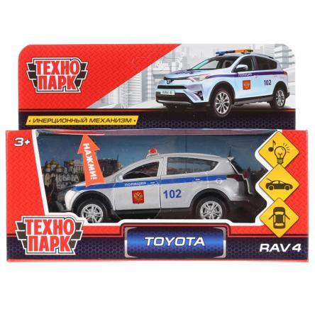 Автомобиль ТЕХНОПАРК TOYOTA RAV4 ПОЛИЦИЯ 12 см белый RAV4-P-SL автомобиль технопарк гонки цвет в ассортименте ebs868 r