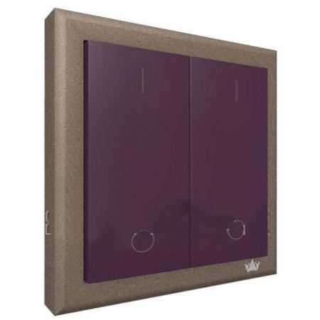 Выключатель BRENIN SW-02L easy switch dau лиловый двукнопочный беспроводной