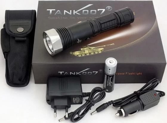 Фонарь TANK007 TC07XML cветодиодный с комплектацией tank007