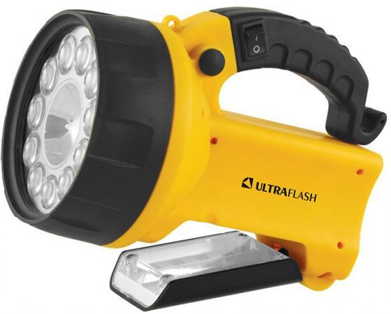 Фонарь ULTRAFLASH UF3753LED аккум 220в/12в желтый 11 led.+ галог 4в 2ач пластик коробка цена
