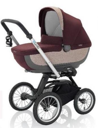 Коляска для новорожденного Inglesina Quad на шасси Quad XT Black (AB60F6PTG + AE64G0000) коляска inglesina inglesina прогулочная коляска quad на сером шасси forest