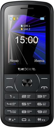 teXet TM-D229 черный Мобильный телефон мобильный телефон защищенный texet tm 518r