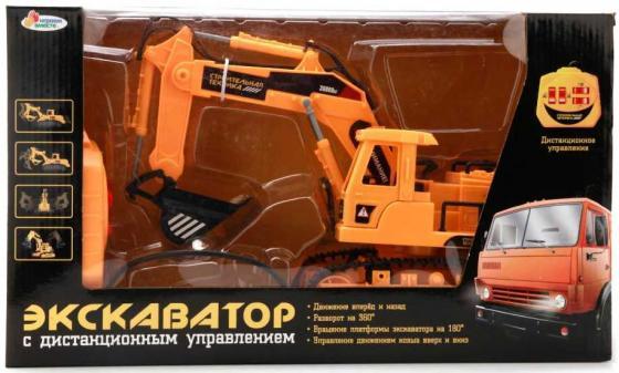 Экскаватор Пламенный мотор ЭКСКАВАТОР оранжевый B210818-R бетономешалка пламенный мотор 1 32 бетономешалка строй транс 20 см оранжевый