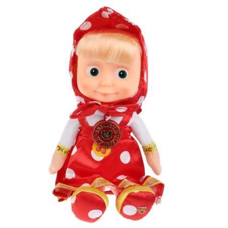 купить Мягкая игрушка кукла МУЛЬТИ-ПУЛЬТИ Маша 29 см красный пластик плюш дешево