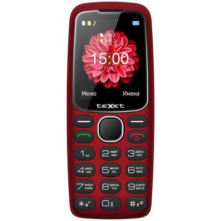 teXet TM-B307 красный Мобильный телефон цена и фото