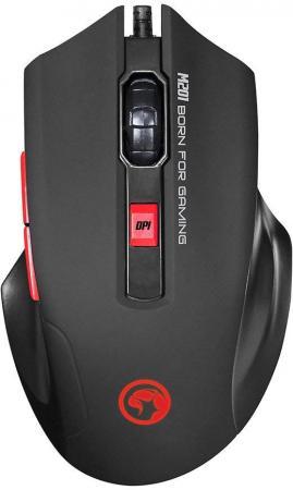 Мышь MARVO M201 Black USB оптическая, 2400 dpi, 5 кнопок + колесо все цены