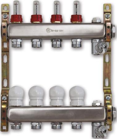 220ATT2-06-04D Te-Sa Коллектор в сборе 1 4 выхода под евроконус с расходомерами 220att2 06 04d te sa коллектор в сборе 1 4 выхода под евроконус с расходомерами