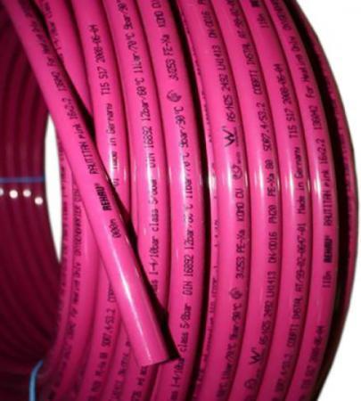 Отоп. труба RAUTITAN pink 32х4,4 мм, бухта 50 м rehau rautitan stabil труба универсальная 20x2 9 длина 5 м