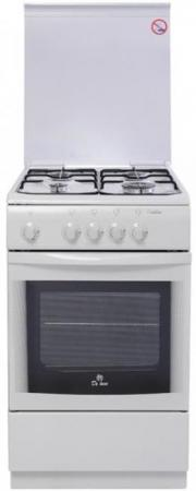 Газовая плита De Luxe 506040.05г(кр) белый