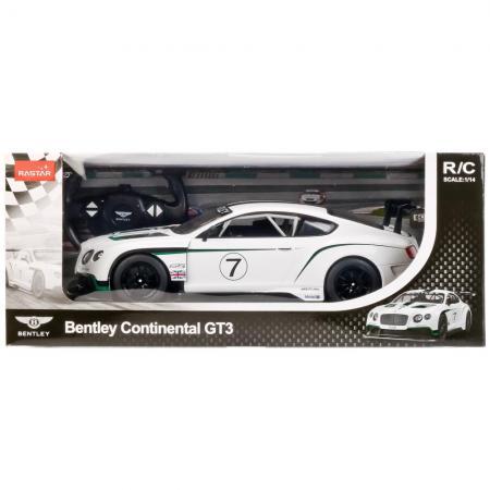 Автомобиль RASTAR BENTLEY CONTINENTAL GT3 1:14 белый от 3 лет пластик, металл 70600-RASTAR стоимость