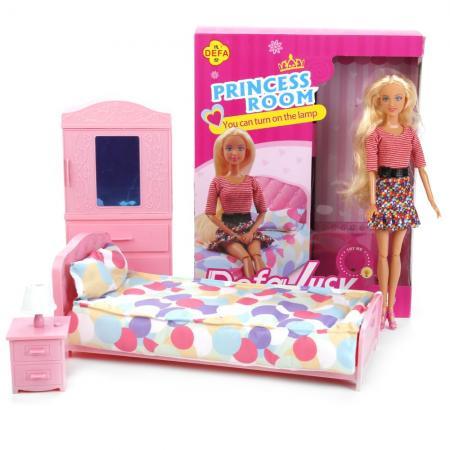 Кукла DEFA LUCY Комната принцессы 27 см светящаяся 8378AB-DEFA