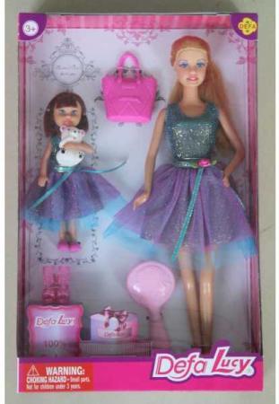 Набор кукол DEFA LUCY МАМА+ДОЧЬ 32 см 8304A defa lucy набор из 2 х кукол в зоопарке 11 см 14 см defa lucy